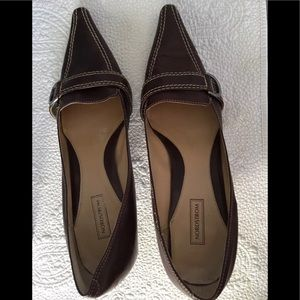 Nordstrom brown stylish pointy shoes size 10wide